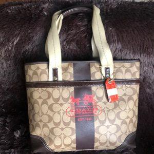 Beautiful leather coach bag